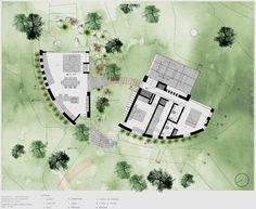 Plano casa de campo de un piso