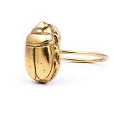 Gold Scarab ring | Beau & Arrow