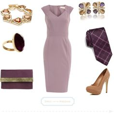 Purple Dress for a Wedding Guest by dressforthewedding on Polyvore featuring Dorothy Perkins, River Island, Yvonne Yvonne, Carolee, Anne Klein, Lola Rose and BOSS Black
