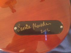 Signed by Bernie Marsden, one of the first ones in the country