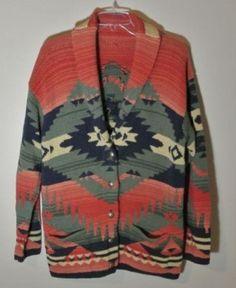 Ralph Lauren Navajo Blanket Cardigan  Sold for $631 on eBay