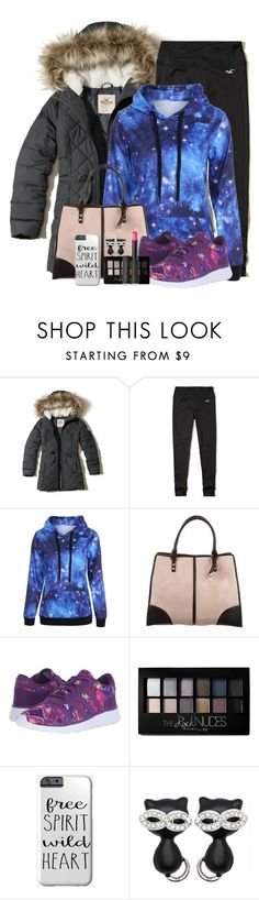 """""""Untitled #1650"""" by purplicious ❤ liked on Polyvore featuring Hollister Co., Rebecca Minkoff, adidas, Maybelline, Kate Marie and Le Métier de Beauté"""