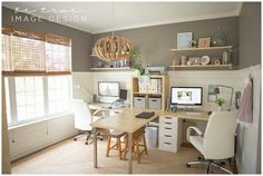 These Fun Home Offices Will Make You More Productive—Promise These Fun Home Offices Will Make You More Productive—Promise,Oficinas, Bibliotecas, controles de mando, lugares para crear. Ikea Home Office For Two Unique Ideas 1 Home. Mesa Home Office, Home Office Desks, Office With Two Desks, Office Spaces, Shared Office, Apartment Office, Work Spaces, Double Desk Office, Round Office Table
