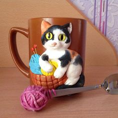 Cute Mug, Metal Clay, Legos, Needle Felting, Biscuits, Polymer Clay, Jar, Homemade, Tableware