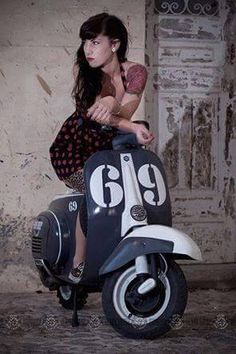 All things Lambretta & Vespa — A few random scooters and their ladies pictured.