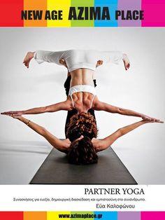 Hatha Yoga By Eva Kalofonou@ Azimaplace. Partner Yoga, Pilates, Bikinis, Swimwear, Dance, Fitness, Awesome, Usa, Pop Pilates