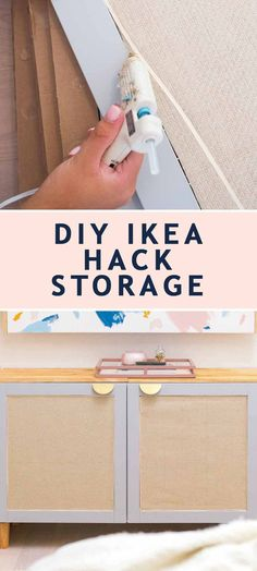 Home Decor Bohemian Sharing the super-easy tutorial for how to make this trendy Ikea hack for your very own custom Ikea TV stand or IKEA TV cabinet. Tv Storage Unit, Ikea Hack Storage, Diy Storage, Record Storage, Ikea Tv Stand, Diy Tv Stand, Tv Stand Hack, Diy Interior, Tv Stand Alternatives
