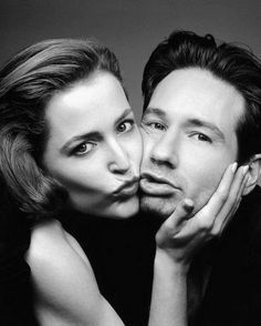 Gillian Anderson and David Duchovny (Dana Scully and Fox Mulder on The X-Files) Gillian Anderson David Duchovny, Duchovny Anderson, The X Files, Tilda Swinton, Michael Fassbender, David And Gillian, Chris Carter, Image Film, Bryan Cranston