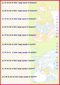 ilkokul ödevleri: 3.sınıf çeşitli problemler