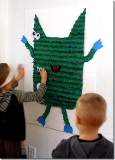Pin the eyes on the monster game for a monster birthday party.