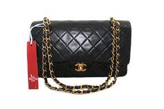 Double Chain, Black Quilt, Chanel Black, Luxury Bags, Gold Hardware, Rolex, Louis Vuitton, Satin, Shoulder Bag