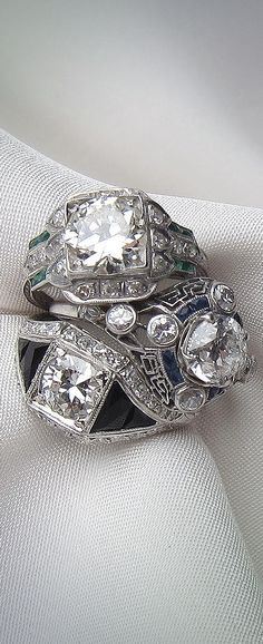 A ring to last for generations. Find your eternal vintage engagement ring at Isadoras.com.