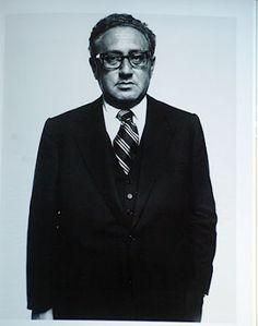 Henry Kissinger. Loving these political photos by Avedon.