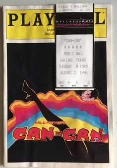 Vintage CAN-CAN Playbill, 1988 w/ Chita Riviera and The Rockettes