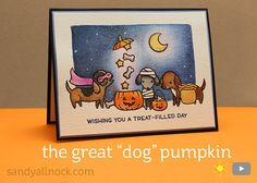 Sandy Allnock The Great Dog Pumpkin- GREAT w/c pencil tutorial.  Remember to go from light to dark