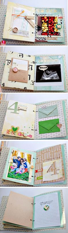 Dear lizzy album she made for her new baby boy before he was born. so cute