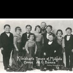 Real Photo Postcard Klinkhart's Circus Troupe of Midgets, A. Barnes Little People (Dwarfs) Wizard Of Oz 1939, Water For Elephants, Creeped Out, Circus Performers, Land Of Oz, Yellow Brick Road, Vintage Circus, Sideshow, Photo Postcards
