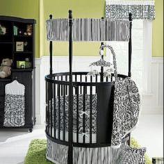 round nursery crib