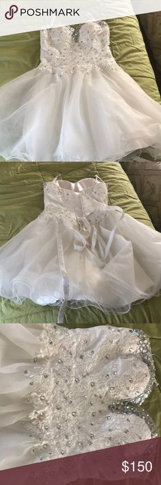 A sweet 16 dress White dress, really good material, very nicely designed, and I only used it once Dresses Strapless