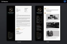 Clean Minimal CV/Resume Template pack - Cover and Portfolio page