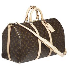 Soft-Sided Keepall Travel Bag with Cross Strap €1,065