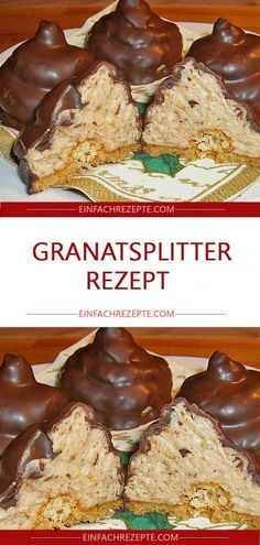 Granatsplitter Granatsplitter The post Granatsplitter appeared first on Backen Rezepte. Granatsplitter Granatsplitter The post Granatsplitter appeared first on Backen Rezepte. Dessert Simple, No Bake Desserts, Easy Desserts, Easy Cake Recipes, Dessert Recipes, Torte Au Chocolat, Pecan Praline Cake, Short Pastry, Chocolate Butter