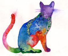 Tabby Cat Watercolor ~ by HayleyJLK  #art #journal