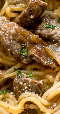 This beef and noodles recipe is quick comfort food! The meat and ramen noodles are tossed in a delicious sweet and spicy sauce. Ready in less than 30 minutes! Casserole Recipes, Meat Recipes, Asian Recipes, Dinner Recipes, Cooking Recipes, Beef Dinner Ideas, Recipies, Supper Ideas, Casserole Dishes