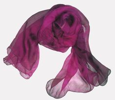 Onyx Friday: a black friday alternative www.pinterest.com/sirensongevents/onyx-friday-a-black-friday-alternative Silk Chiffon Scarf  New  Magenta & Dark Brown  Ripples by maahi, $20 (Regular$30.00) https://www.etsy.com/listing/87626554/silk-chiffon-scarf-new-magenta-dark?ref=shop_home_feat