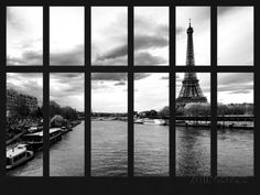Window View - View of the River Seine and the Eiffel Tower - Paris - France - Europe Photographic Print by Philippe Hugonnard at AllPosters.com