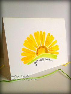 Deepti Malik - April Gallery Challenge winner - Get Well card - Paper Crafts & Scrapbooking magazine