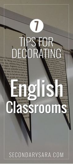 Blog Post - Decorating an English classroom for middle and high school doesn't have to be overwhelming. Get ideas from Secondary Sara & Presto Plans for your classroom makeover.