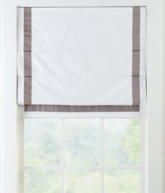 Bordered Roman Shade - Cordless - Final Sale - No Returns/Exchanges Window Coverings, Window Treatments, Blackout Roman Shades, Kitchen Valances, Country Curtains, Sheer Curtains, Panel Doors, Kitchen Decor, Family Room