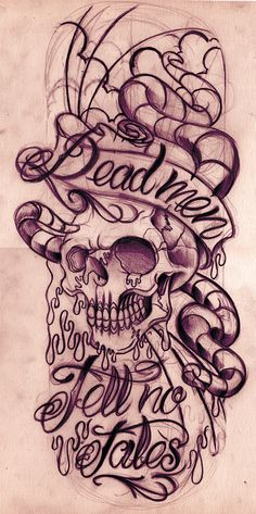 dead men tell no tales tattoo sketch