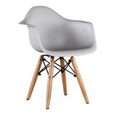 Kinderstoel Eames Junior Licht Grijs