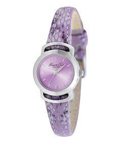 Purple & Silver Reptilian Watch