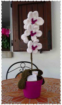Orchid amigurumi crochet