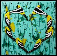 A Charm of Goldfinch Goldfinch, Mosaic Art, Fused Glass, Glass Art, Birds, Bird, Glass Craft, Mosaics, Stained Glass