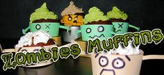 zombies muffins vegan