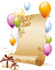 cadre vide - Page 2 Happy Birthday 23, Happy Birthday Celebration, Birthday Greetings, Birthday Wishes, Art Carte, Birthday Clipart, Balloon Gift, Birthday Frames, Paper Ribbon