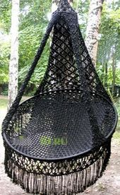 """Everything about """"Macrame"""" Macrame Hanging Chair, Macrame Chairs, Macrame Wall Hanging Patterns, Macrame Art, Macrame Design, Macrame Projects, Macrame Patterns, Hammock Chair, Swinging Chair"""