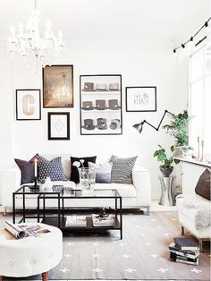 Inside a Minimal Scandinavian Apartment Loaded with Style  A little girly but thematics there maybe