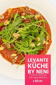 Haya Molcho zeigt dir die Küche der Levante! Viel frisches Gemüse, hauptsächlich vegetarische Gerichte, ein Genuss für die ganze Familie. Sichere dir den Online-Kurs jetzt und schau ihn jederzeit an! Seaweed Salad, Japchae, Japanese, Ethnic Recipes, Roasted Garbanzo Beans, Cabbage Rolls, Salad With Strawberries, Falafel Recipe, Japanese Language