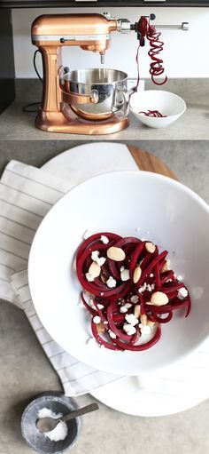 Three Spiralized Superfood Recipes to Kick-start Your New Year Kitchen Aid Spiralizer, Spiralizer Recipes, Diabetic Recipes, Real Food Recipes, Cooking Recipes, Kitchen Aid Recipes, Kitchen Aide, Stand Mixer Recipes, Superfood Recipes
