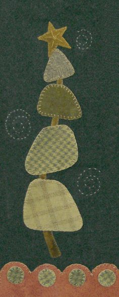 Folk Art Wool Christmas Tree -Cotton Tales Patterns