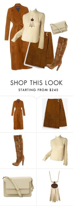 """""""outfit4799"""" by natalyag ❤ liked on Polyvore featuring Martin Grant, White House Black Market, Prada, Karl Lagerfeld and Marni"""