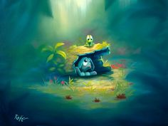 Rob Kaz - Shy Rabbit_18x24 - original oil on canvas painting