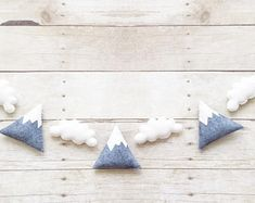 Monochrome Decor - Mountain Garland - Neutral Nursery - Mountain Theme Decor - Monochrome Nursery - Gender Neutral Decor - Nursery Decor