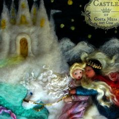 The Wild Swans Fairy Tale Needle Felted 8 x by Castleofcostamesa