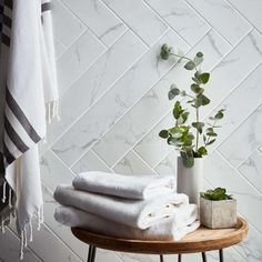 These plank shaped Ador White Carrara Marble Tiles are perfect for injecting a luxury natural look into your wall or floor spaces. Cultured Marble Shower Walls, Marble Bathroom Floor, Marble Look Tile, White Marble Bathrooms, Marble Showers, Marble Effect, Bathroom Flooring, Master Bathroom, Carrara Marble Bathroom